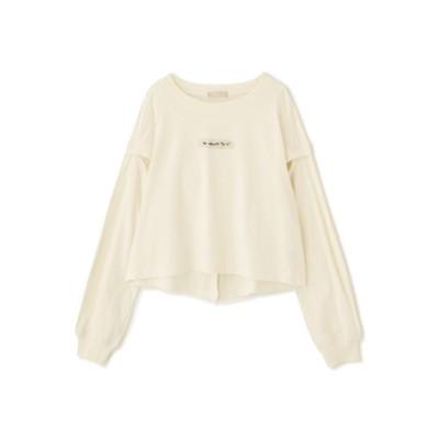 【フリーズマート/Free's Mart】 肩スリットロゴ刺繍Tシャツ