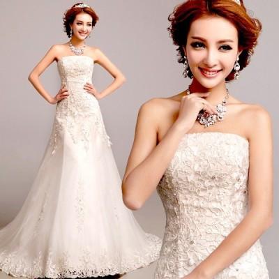 ウェディングドレス マーメイドライン ウエディングドレス 安い 花嫁 ロングドレス 披露宴 マーメイドドレス 二次会 結婚式 シンプルドレス wedding dress