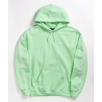 オベイ OBEY レディース パーカー トップス worldwide key lime hoodie Light/pastel green
