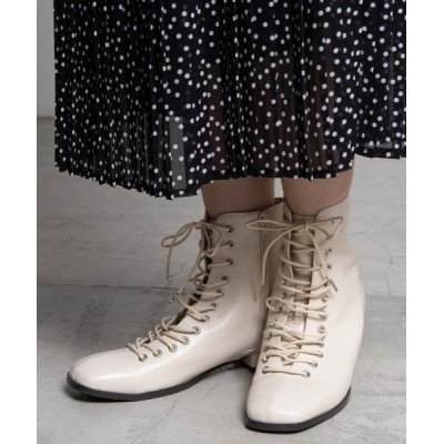 WEGO / WEGO/レースアップスクエアトゥブーツ WOMEN シューズ > ブーツ