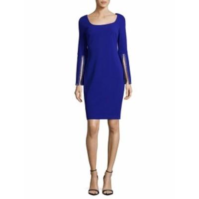 カルバンクライン レディース ワンピース Split Sleeve Sheath Dress