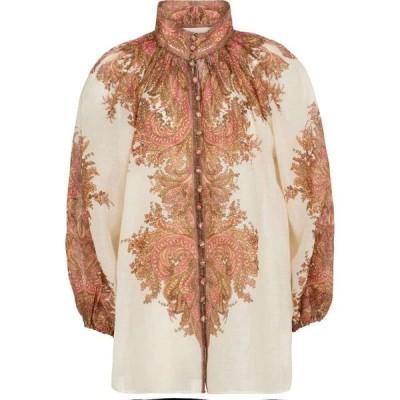 ジマーマン Zimmermann レディース ブラウス・シャツ トップス brighton paisley blouse Sherbet
