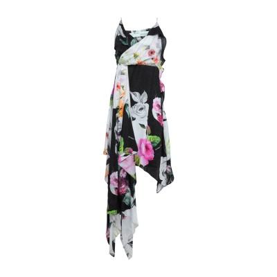 OFF-WHITE™ 7分丈ワンピース・ドレス ブラック 42 シルク 100% 7分丈ワンピース・ドレス