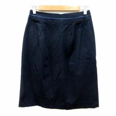 【中古】ボールジー BALLSEY トゥモローランド タイトスカート ひざ丈 36 紺 ネイビー /MN レディース
