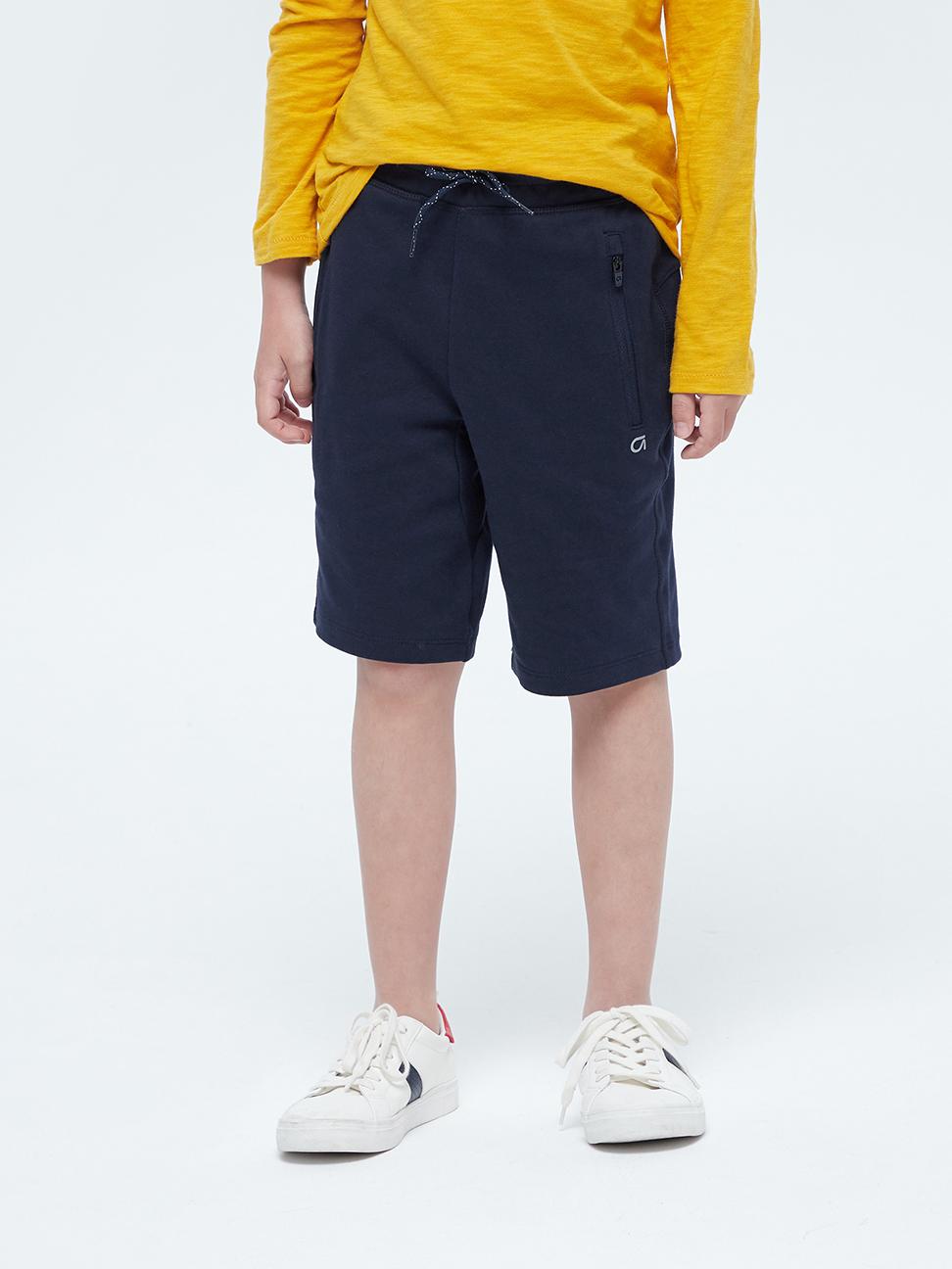 男童 基本款拉鍊口袋運動短褲