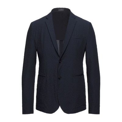 エンポリオ アルマーニ EMPORIO ARMANI テーラードジャケット ダークブルー 46 ポリエステル 100% テーラードジャケット