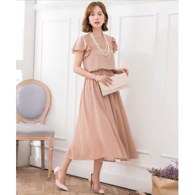 【ドレス スター】 デコルテレースシフォンマキシドレス レディース ブラウン XXXLサイズ DRESS STAR