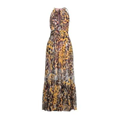 マニラ グレース MANILA GRACE ロングワンピース&ドレス イエロー 38 ポリエステル 100% ロングワンピース&ドレス