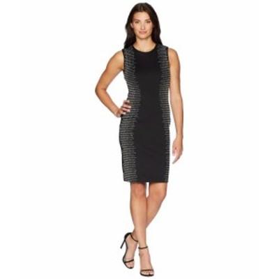 Calvin Klein カルバンクライン ドレス 一般 Embellished Side Panels Sheath Dress CD8M18TP