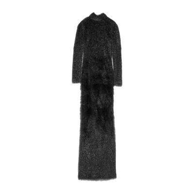 ブルマリン BLUMARINE ロングワンピース&ドレス ブラック 42 ナイロン 59% / レーヨン 41% ロングワンピース&ドレス