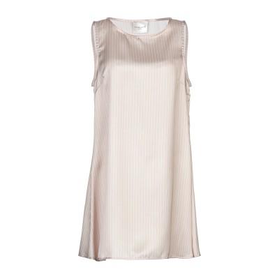 MICHELA MII ミニワンピース&ドレス ベージュ M ポリエステル 100% ミニワンピース&ドレス