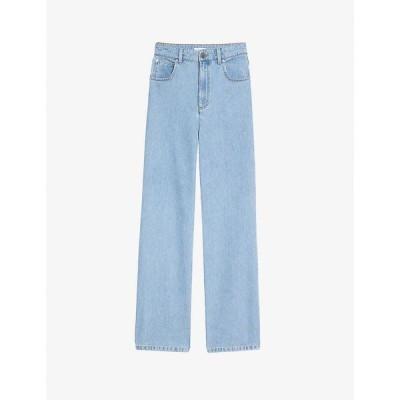 サンドロ SANDRO レディース ジーンズ・デニム ボトムス・パンツ Jordy high-rise wide-leg jeans BLEU DENIM