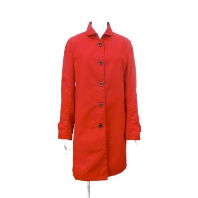コート レディース 赤 ステンカラーコート アウター M ~ L サイズ
