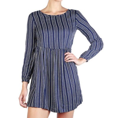 ロキシー ワンピース レディース トップス Roxy Women's Highland Escape Dress Dress Blues Vertical Stripes