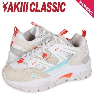 アキクラシック AKIII CLASSIC ランブル スニーカー ダッドシューズ レディース 厚底 RUMBLE ホワイト 白 AKC0001