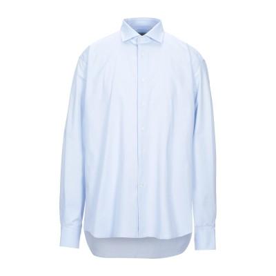 レ コパン LES COPAINS シャツ スカイブルー 44 コットン 97% / ポリウレタン 3% シャツ