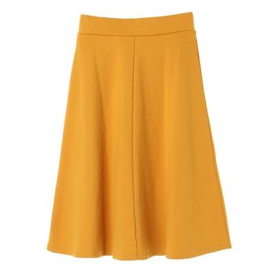 ・カラーポンチフレアースカート