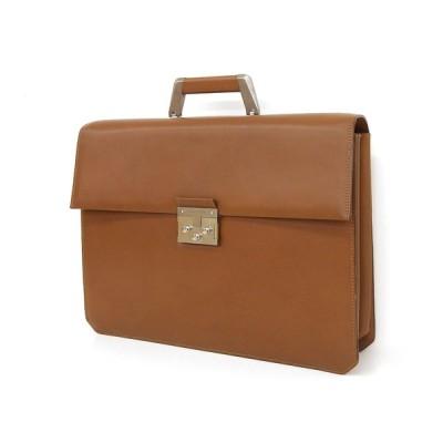 綺麗 Salvatore Ferragamo フェラガモ シャーロックホームズキー ビジネスバッグ 茶 ブラウン 書類カバン ブリーフケース