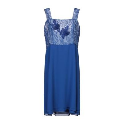 CAILAN'D ミニワンピース&ドレス ブライトブルー 46 ポリエステル 50% / シルク 50% ミニワンピース&ドレス