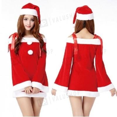 クリスマス コスプレ サンタ 衣装 安い レディース 女性用 仮装 パーティグッズ サンタクロース コスチューム Xmas 赤 サンタドレス
