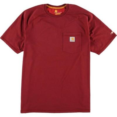 カーハート ワンポイントロゴポケットTシャツ L /eaa040627