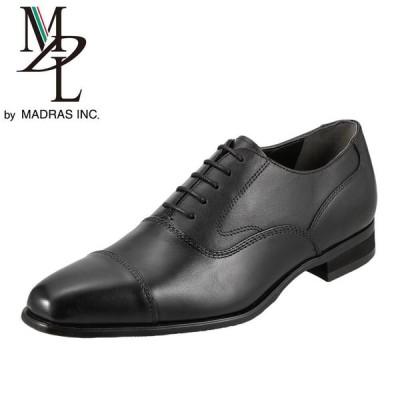 エムディエル MDL DS4061 メンズ ビジネスシューズ 本革 内羽根 ストレートチップ 軽量 冠婚葬祭 ブラック