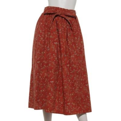 Samansa Mos2 (サマンサ モスモス) レディース 壁紙風花柄スカート レッド フリー