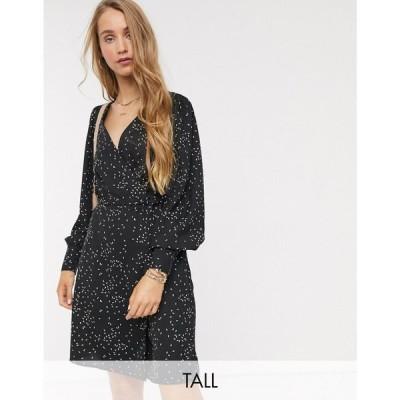 ヴェロモーダ Vero Moda Tall レディース ワンピース ラップドレス ワンピース・ドレス wrap front dress in tear drop print マルチカラー