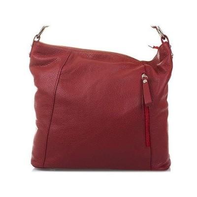 FIRENZE ARTEGIANI. Woman Genuine Leather Handbag. Shoulder Soft Leather Bag.Made in Italy. Genuine Italian LEATHER32x29x5 cm. Color: Red 並行輸入