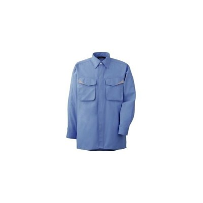 ミドリ安全 作業服 春夏 長袖 シャツ 帯電防止 GS2493 LL ブルー 1着 3121193106(直送品)