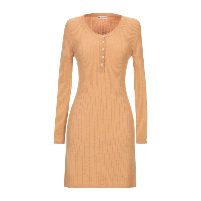 COLOMBO ミニワンピース&ドレス キャメル M シルク 30% / カシミヤ 30% / ウール 22% / ポリエステル 18% ミニワンピ