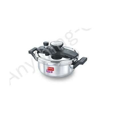 【新品】Prestige PRCO3SS Pressure Cooker Stainless Steel Cook And Serve Pot, Small, Silver