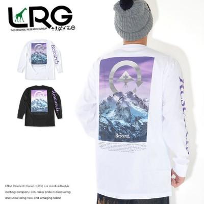 LRG エルアールジー ロンT ロングTシャツ 長袖 アームResearch バックパープルマウンテン (L0FQMLCXX)