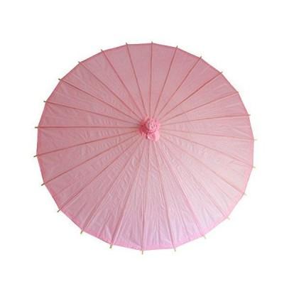 和傘 日傘 無地 直径84cm ピンク