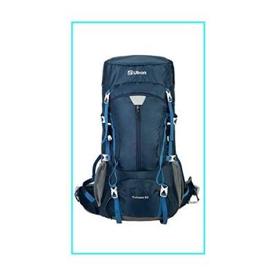 Ubon Internal Framed Backpack 50L High Performance Backpack with Rain Cover Blue