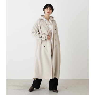 SINGLE FLAP TRENCH COAT L/BEG1