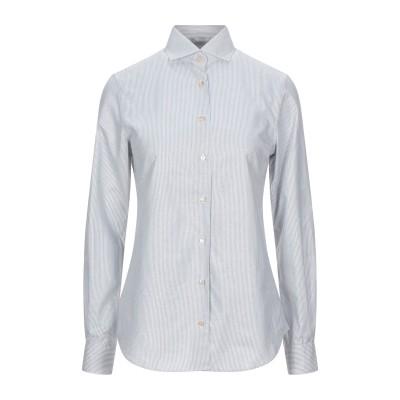 XACUS シャツ ライトグレー 44 コットン 72% / レーヨン 22% / ポリエステル 6% シャツ