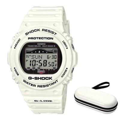 (セット)(国内正規品)(カシオ)CASIO 腕時計 GWX-5700CS-7JF (ジーショック)G-SHOCK メンズ G-LIDE&腕時計ケース1本用 ホワイト