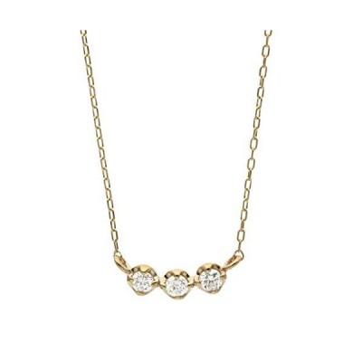 L&Co (エルアンドコー) ショッパー&ジュエリー収納BOX付K10 ダイヤモンド 0.1ct ネックレス Design4 (60-865