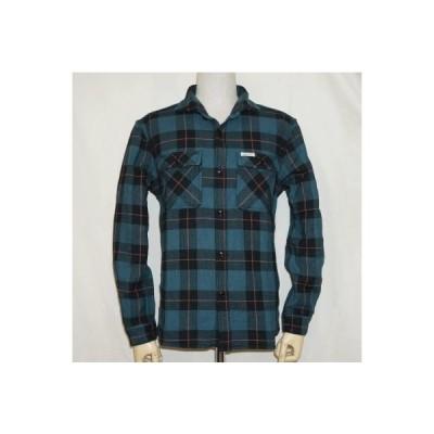 F-SNO-301L-BGRNxRD-ブロックチェックネルシャツ長袖301L-FSNO301L-FLATHEAD-フラットヘッドシャツ-シャツ-シャツ長袖-ネルシャツ