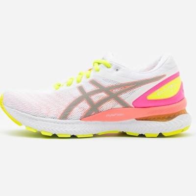 アシックス レディース 靴 シューズ GEL-NIMBUS 22 SUMMER LITE SHOW - Neutral running shoes - white/sun coral