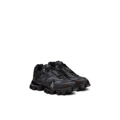 プラダ PRADA スニーカー シューズ 靴 グレー ニット ファブリック