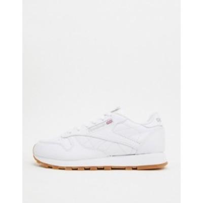 リーボック レディース スニーカー シューズ Reebok Classic White Leather sneakers with gum sole White