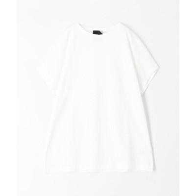 【トゥモローランド】 ATON コットンTシャツ レディース 11ホワイト 2 TOMORROWLAND