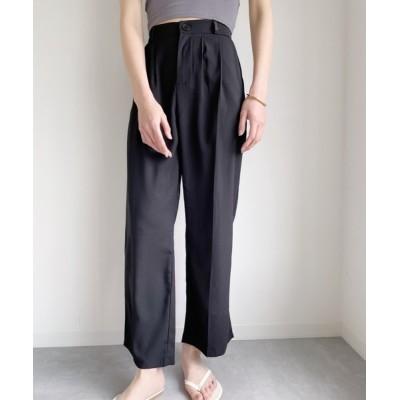 wears / ウエストバックゴム美脚センタープレスタックセミワイドパンツ WOMEN パンツ > スラックス
