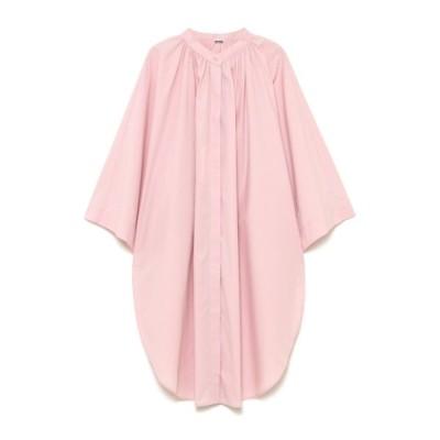 【ミラオーウェン】 ポンチョ風スタンドカラーシャツ レディース ピンク F Mila Owen
