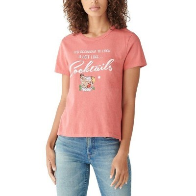 ラッキーブランド カットソー トップス レディース Looking Like-Graphic T-Shirt Molten Lava