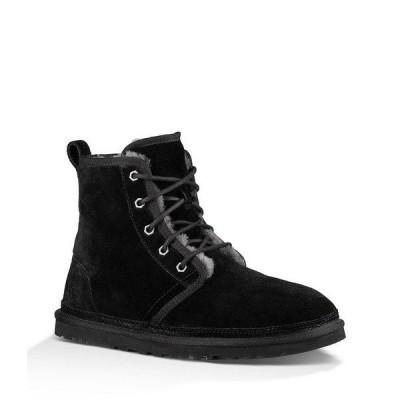 アグ メンズ ブーツ&レインブーツ シューズ UGG Men's Harkley Suede Wool Lined Lace Up Boots Black