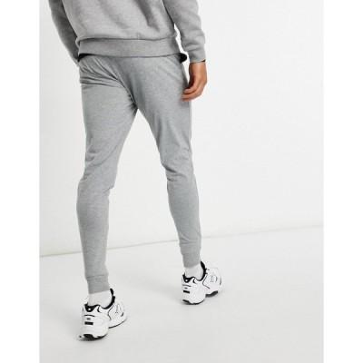エイソス メンズ カジュアルパンツ ボトムス ASOS DESIGN lightweight skinny sweatpants in gray marl Gray heather
