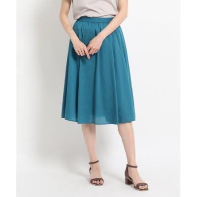 SunaUna(スーナウーナ) 【洗える】ギャザーフレアスカート